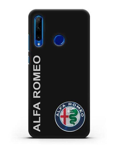 Чехол с надписью Alfa Romeo и логотипом силикон черный для Honor 10i