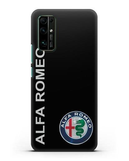 Чехол с надписью Alfa Romeo и логотипом силикон черный для Honor 30