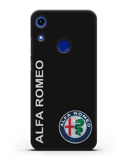 Чехол с надписью Alfa Romeo и логотипом силикон черный для Honor 8A