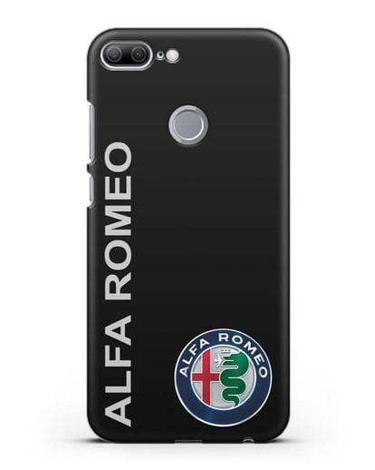 Чехол с надписью Alfa Romeo и логотипом силикон черный для Honor 9 Lite
