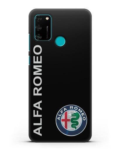 Чехол с надписью Alfa Romeo и логотипом силикон черный для Honor 9A