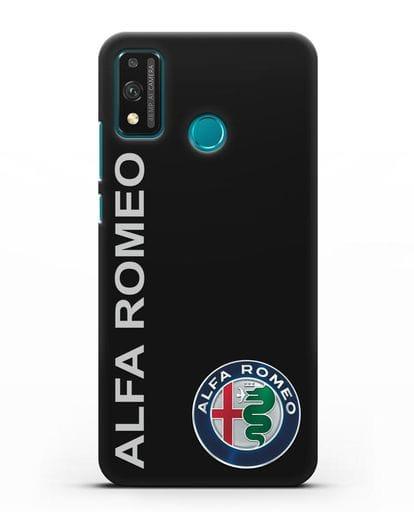 Чехол с надписью Alfa Romeo и логотипом силикон черный для Honor 9X lite
