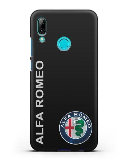 Чехол с надписью Alfa Romeo и логотипом силикон черный для Huawei P Smart 2019