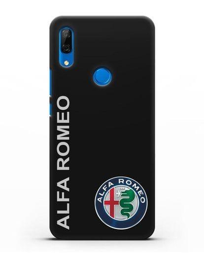 Чехол с надписью Alfa Romeo и логотипом силикон черный для Huawei P Smart Z