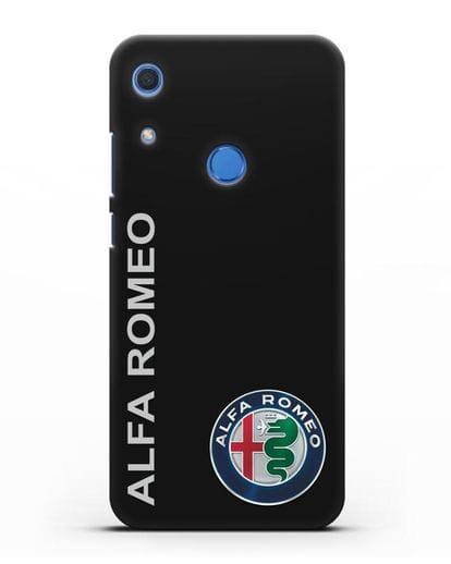 Чехол с надписью Alfa Romeo и логотипом силикон черный для Huawei Y6s