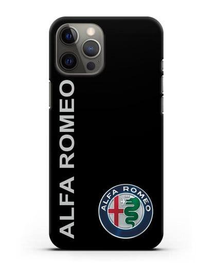 Чехол с надписью Alfa Romeo и логотипом силикон черный для iPhone 12 Pro Max