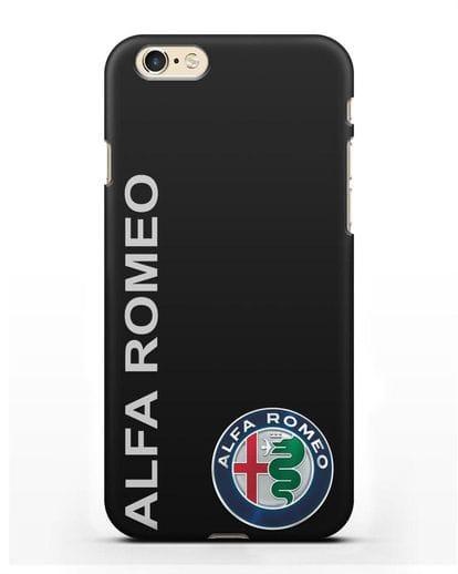 Чехол с надписью Alfa Romeo и логотипом силикон черный для iPhone 6s