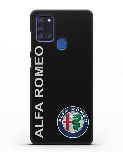 Чехол с надписью Alfa Romeo и логотипом силикон черный для Samsung Galaxy A21s [SM-A217F]