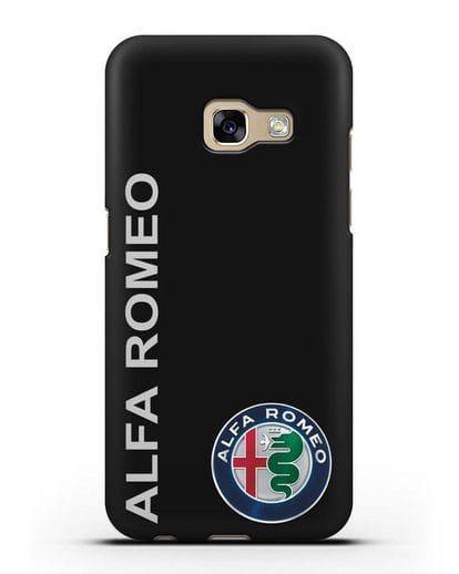 Чехол с надписью Alfa Romeo и логотипом силикон черный для Samsung Galaxy A3 2017 [SM-A320F]