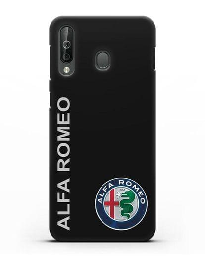 Чехол с надписью Alfa Romeo и логотипом силикон черный для Samsung Galaxy A40s [SM-A507FN]