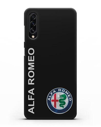 Чехол с надписью Alfa Romeo и логотипом силикон черный для Samsung Galaxy A70s [SM-A707F]