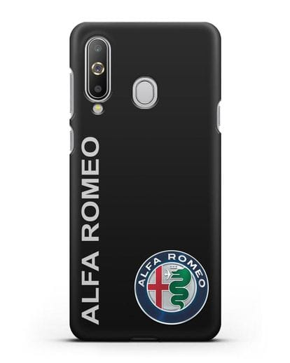 Чехол с надписью Alfa Romeo и логотипом силикон черный для Samsung Galaxy A8s [SM-G8870]