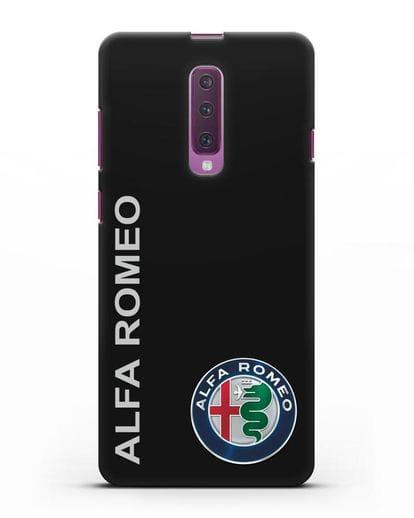 Чехол с надписью Alfa Romeo и логотипом силикон черный для Samsung Galaxy A90 [SM-A908N]
