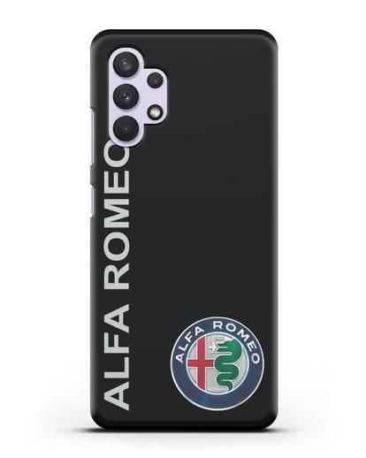Чехол с надписью Alfa Romeo и логотипом силикон черный для Samsung Galaxy A32 4G [SM-A325F]