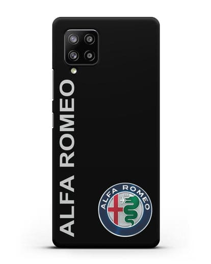 Чехол с надписью Alfa Romeo и логотипом силикон черный для Samsung Galaxy A42 [SM-A426B]