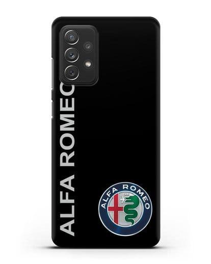 Чехол с надписью Alfa Romeo и логотипом силикон черный для Samsung Galaxy A72 [SM-A725F]