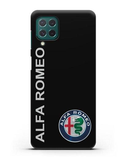 Чехол с надписью Alfa Romeo и логотипом силикон черный для Samsung Galaxy M62 [SM-M625F]