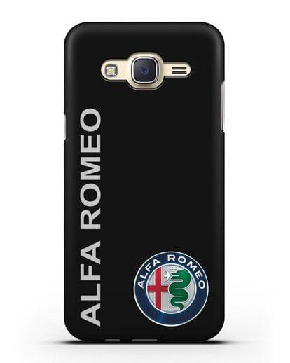 Чехол с надписью Alfa Romeo и логотипом силикон черный для Samsung Galaxy J7 Neo [SM-J701F]