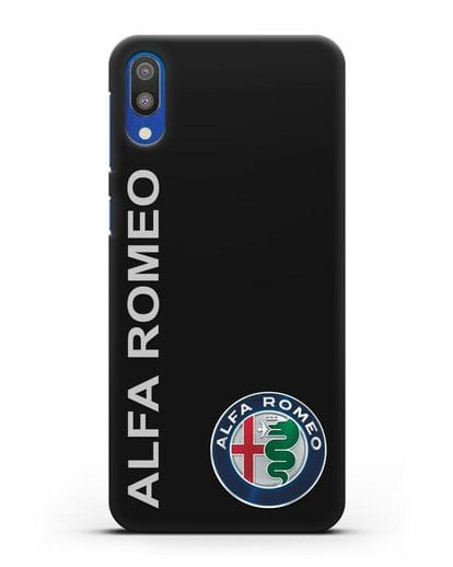 Чехол с надписью Alfa Romeo и логотипом силикон черный для Samsung Galaxy M10 [SM-M105F]