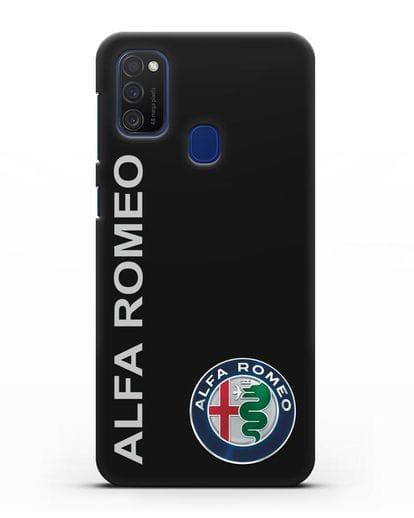 Чехол с надписью Alfa Romeo и логотипом силикон черный для Samsung Galaxy M21 [SM-M215F]