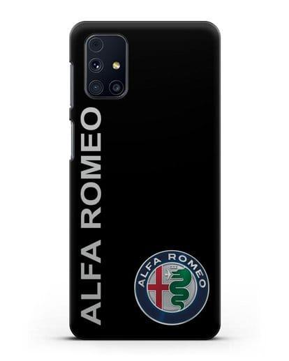 Чехол с надписью Alfa Romeo и логотипом силикон черный для Samsung Galaxy M51 [SM-M515F]