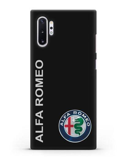 Чехол с надписью Alfa Romeo и логотипом силикон черный для Samsung Galaxy Note 10 Plus [N975F]