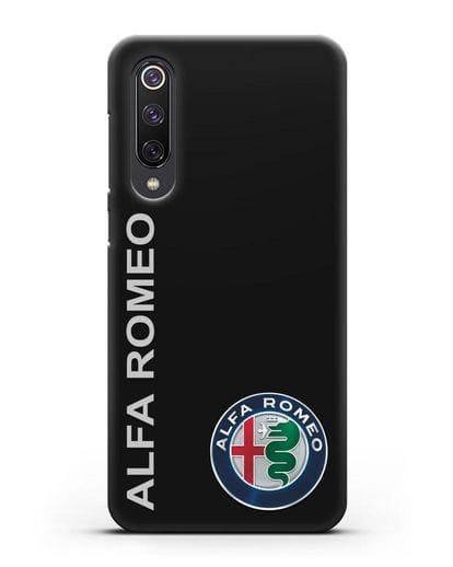 Чехол с надписью Alfa Romeo и логотипом силикон черный для Xiaomi Mi 9 SE