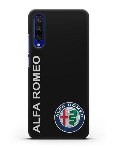 Чехол с надписью Alfa Romeo и логотипом силикон черный для Xiaomi Mi CC9 E