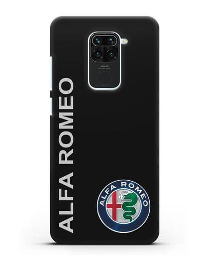 Чехол с надписью Alfa Romeo и логотипом силикон черный для Xiaomi Redmi 10X