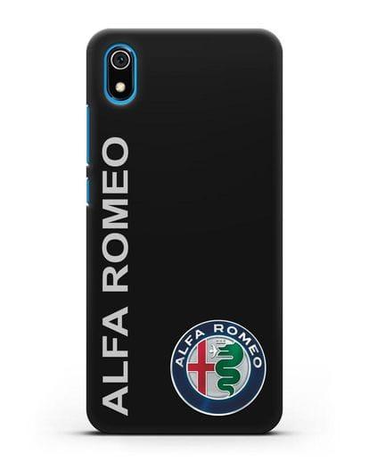 Чехол с надписью Alfa Romeo и логотипом силикон черный для Xiaomi Redmi 7A