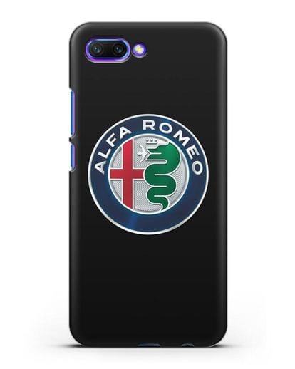Чехол с логотипом Alfa Romeo силикон черный для Honor 10