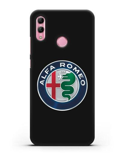 Чехол с логотипом Alfa Romeo силикон черный для Honor 10 Lite