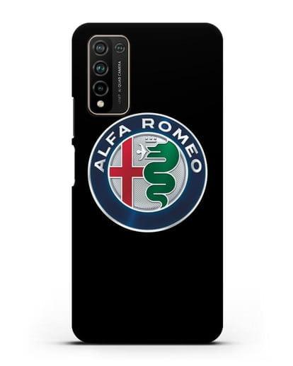 Чехол с логотипом Alfa Romeo силикон черный для Honor 10X Lite