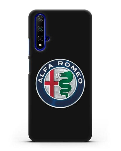 Чехол с логотипом Alfa Romeo силикон черный для Honor 20