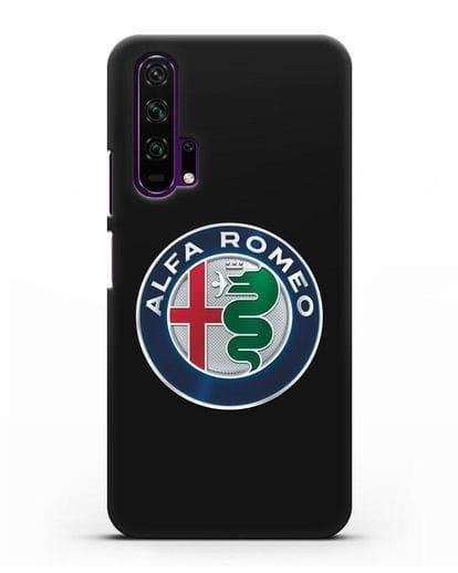 Чехол с логотипом Alfa Romeo силикон черный для Honor 20 Pro