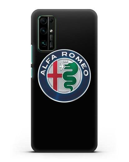 Чехол с логотипом Alfa Romeo силикон черный для Honor 30