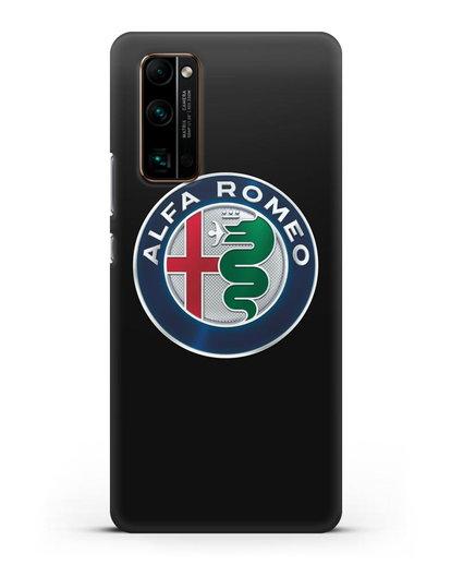 Чехол с логотипом Alfa Romeo силикон черный для Honor 30 Pro