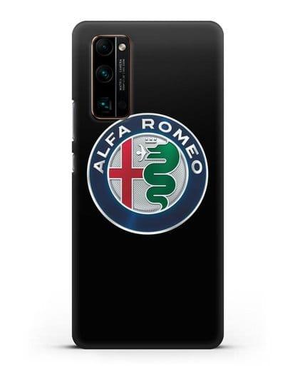 Чехол с логотипом Alfa Romeo силикон черный для Honor 30 Pro Plus