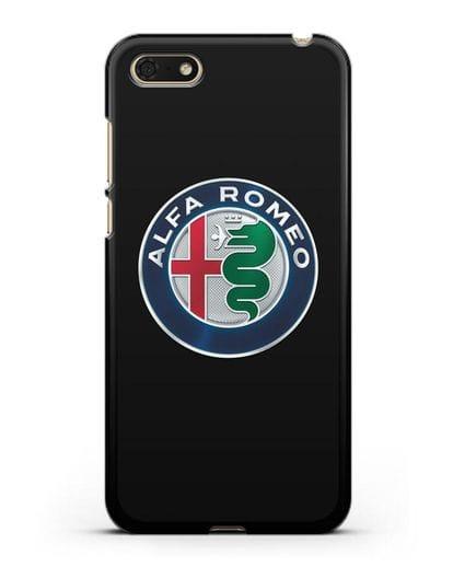 Чехол с логотипом Alfa Romeo силикон черный для Honor 7А