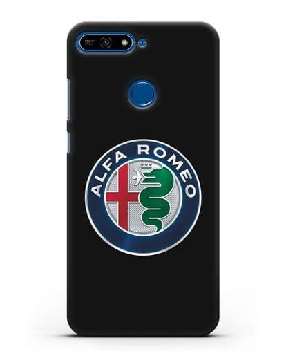 Чехол с логотипом Alfa Romeo силикон черный для Honor 7А Pro