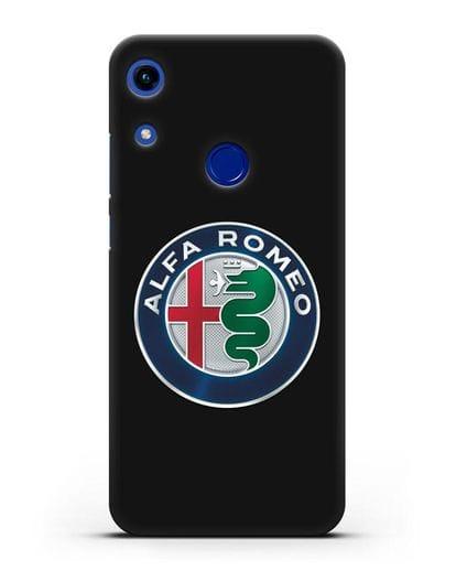 Чехол с логотипом Alfa Romeo силикон черный для Honor 8A