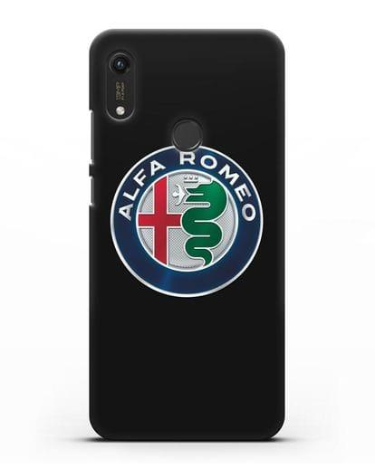 Чехол с логотипом Alfa Romeo силикон черный для Honor 8A Prime