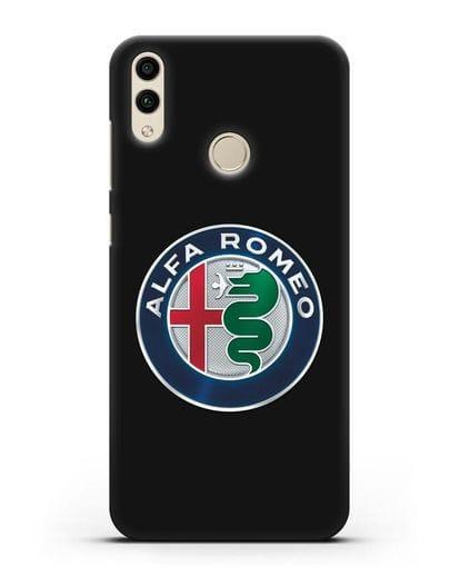 Чехол с логотипом Alfa Romeo силикон черный для Honor 8C