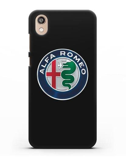 Чехол с логотипом Alfa Romeo силикон черный для Honor 8S