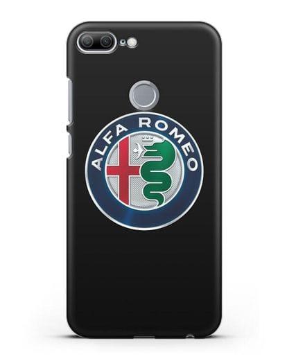Чехол с логотипом Alfa Romeo силикон черный для Honor 9 Lite