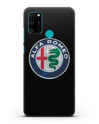 Чехол с логотипом Alfa Romeo силикон черный для Honor 9A