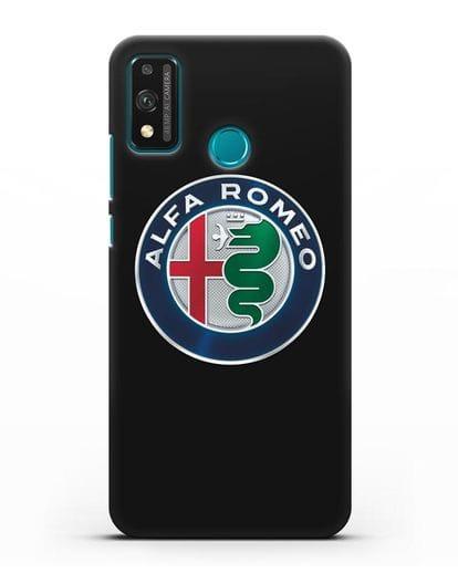 Чехол с логотипом Alfa Romeo силикон черный для Honor 9X lite