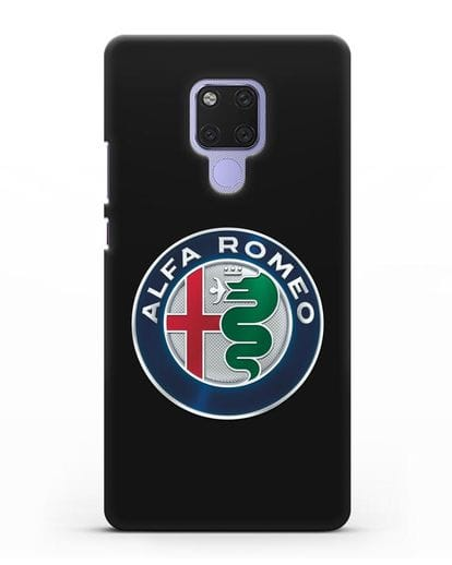 Чехол с логотипом Alfa Romeo силикон черный для Huawei Mate 20X