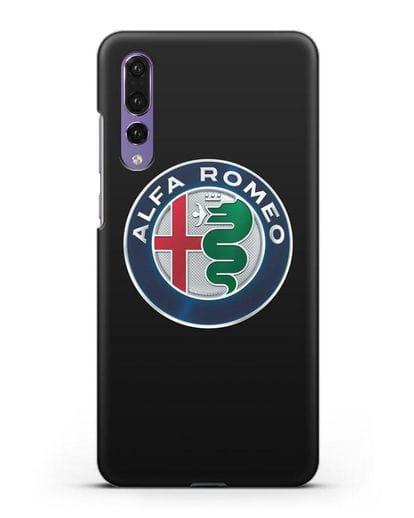 Чехол с логотипом Alfa Romeo силикон черный для Huawei P20 Pro