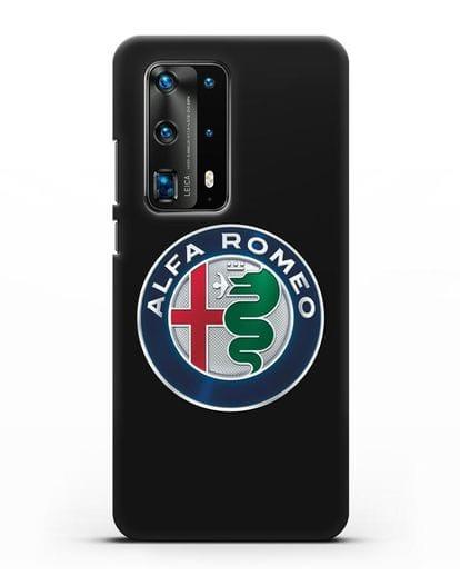 Чехол с логотипом Alfa Romeo силикон черный для Huawei P40 Pro